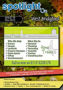 Spotlight Magazines Spotlight Magazine for West Bridgford November 2015