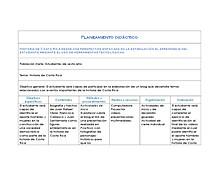 Planeamiento didáctico Historia de Costa Rica