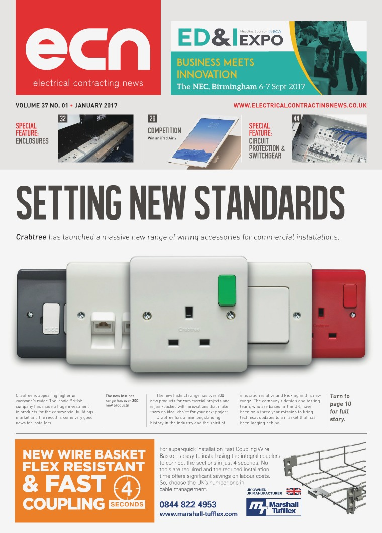 Electrical Contracting News Ecn January 2017 Crabtree Wiring Accessories