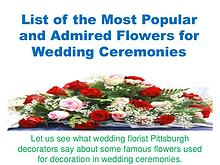 List of the Most Popular and Admired Flowers for Wedding Ceremonies