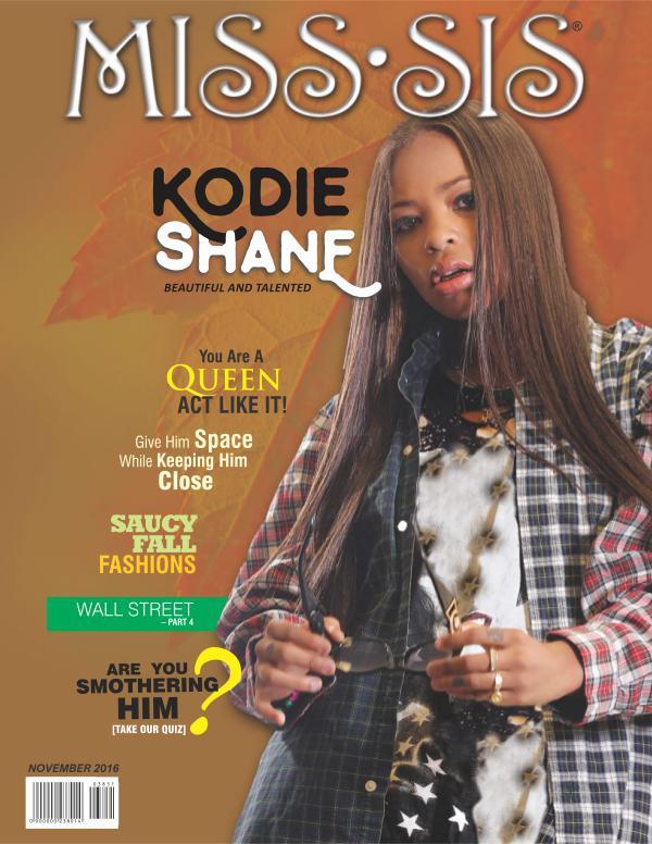 Miss Sis Magazine November 2016 Issue Joomag Newsstand
