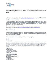 Online Tutoring Market Growth, Drivers, Strategies and Forecasts