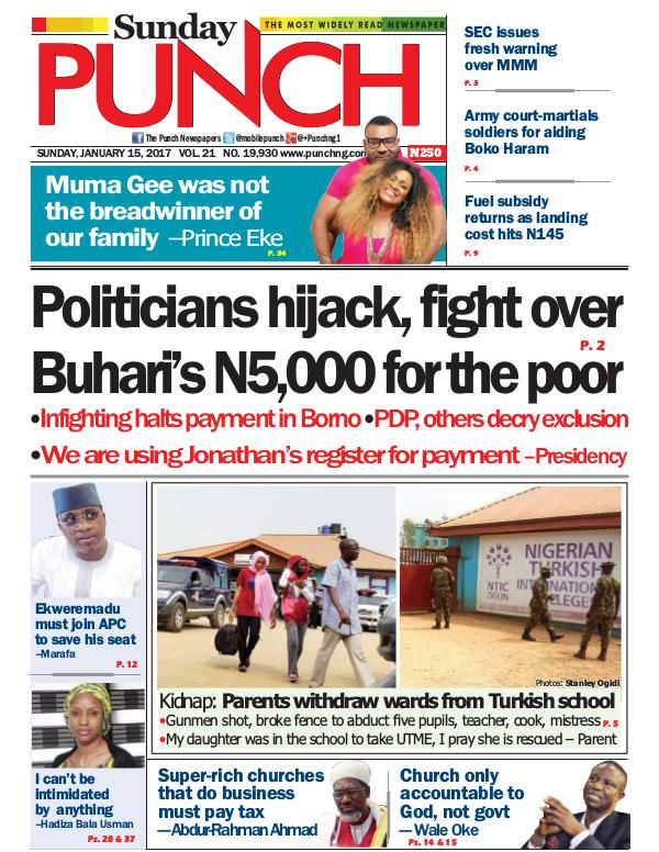 Punch Newspapers, Most read newspapers in Nigeria.