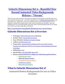 Marketing Galactic Dimensions Set 2 Review-$9700 Bonus & 80% Discount