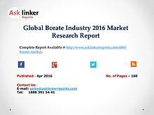 Global Borate Industry 2016 World's Major Regional Market Conditions