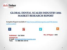 Dental Scaler Market Growth Analysis and Industry Forecasts 2016-2020