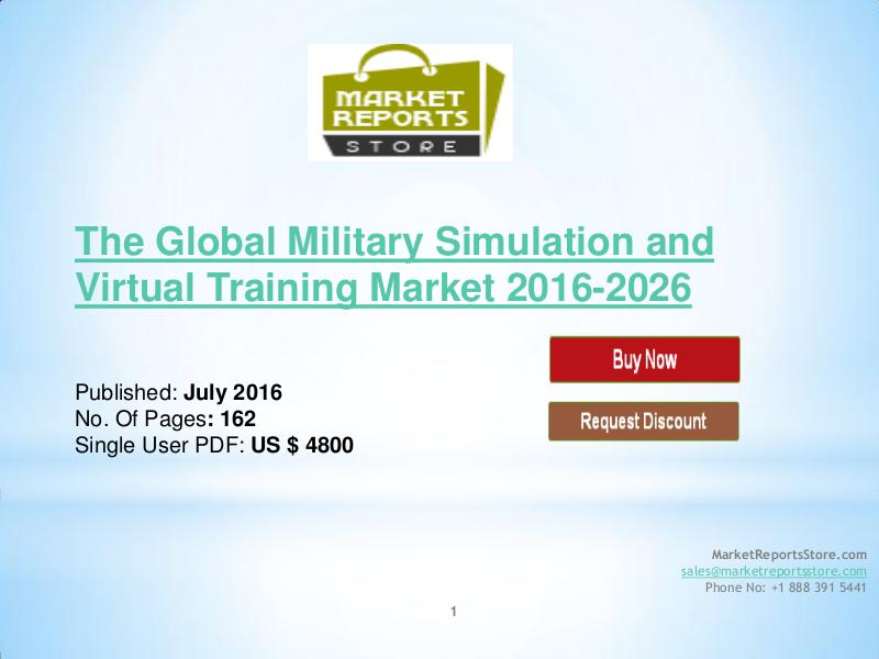 global military simulation and virtual training According to the latest market study released by technavio, the global military simulation and virtual training market is expected to grow at a cagr o.