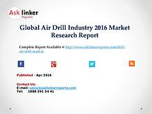 Global Air Drill Market Production and Application in 2016 Report
