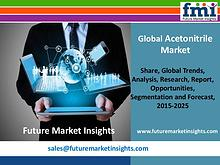 Acetonitrile Market Segments and Forecast By End-use Industry 2015-20
