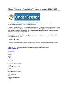Premature Ejaculation Treatment Market 2016-2020 Global Research Repo