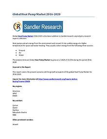Heat Pump Market Key Vendors Research Report to 2020