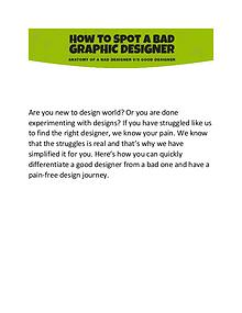 Ever Had a Hard Time in trusting a designer?