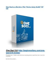 One Soci 2.0 Review – (Truth) of One Soci 2.0 and Bonus