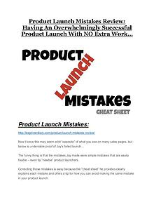 Product Launch Mistakes Review-$32,400 bonus & discount Product Launch Mistakes Review and Premium $14,700 Bonus