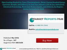 Pipe Coating Market to Register 4.5% CAGR by 2021