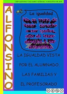 REVISTA ALFONSINO IGUALDAD COLE ALFONSO X EL SABIO TENERIFE