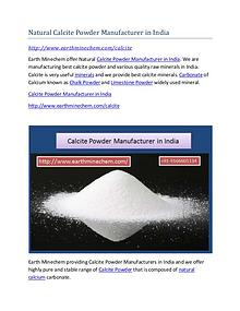 Calcite Powder Manufacturer in India Market Price
