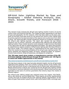 Off-Grid Solar Lighting Market Size, Share, Growth,  and Forecast