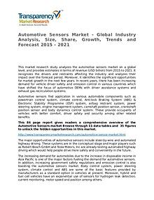 Automotive Sensors Market Research Report and Forecast up to 2021
