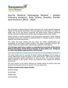 Sterile Medical Packaging Market Research Report