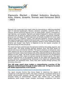 Pigments Market Research Report and Forecast up to 2023