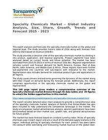 Specialty Chemicals Market Research Report and Forecast up to 2023