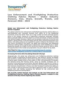 Law Enforcement and Firefighting Protective Clothing Fabrics Market