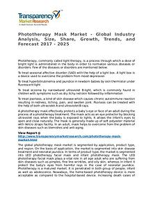 Phototherapy Mask Market Research Report and Forecast up to 2025