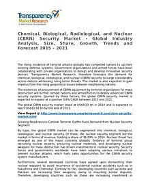 Chemical, Biological, Radiological, and Nuclear Security Market