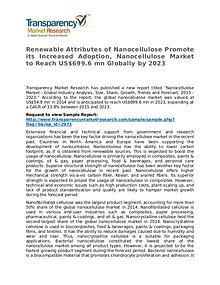 Nanocellulose Market - Opportunity Assessment 2015 - 2023