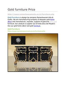 Gold furniture Price