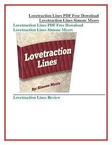 Lovetraction Lines PDF Free Download