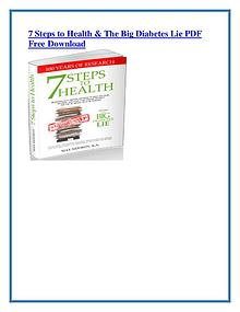 7 Steps to Health and The Big Diabetes Lie PDF Free Download