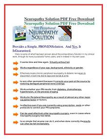 Neuropathy Solution PDF Free Download