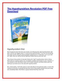 The Hypothyroidism Revolution PDF Free Download