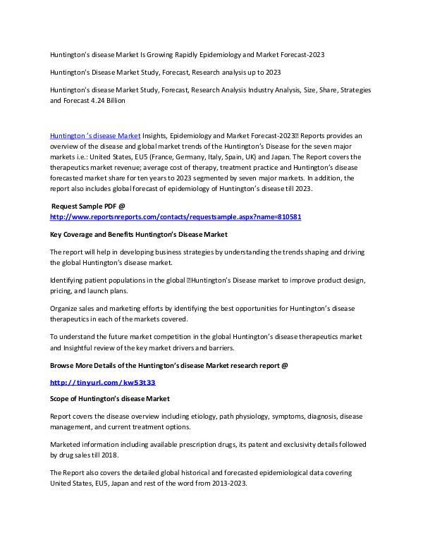 market research report sample pdf