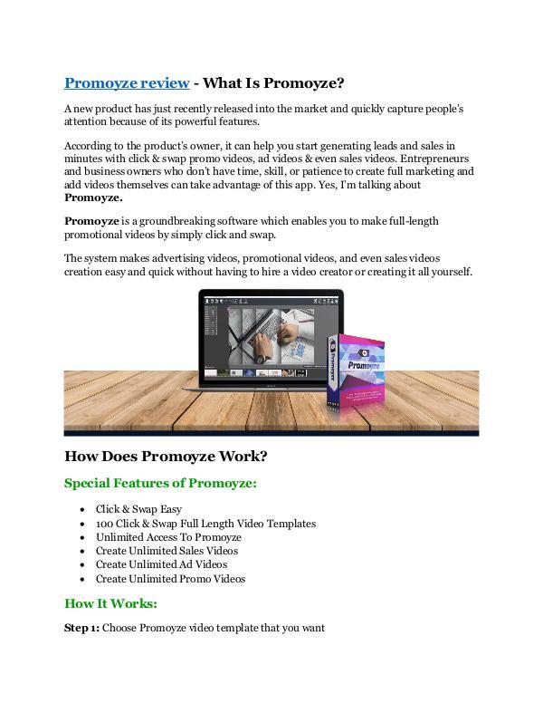 Marketing Promoyze Review Demo Promoyze FREE Bonus - Video ad templates