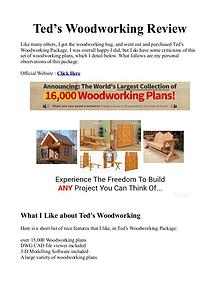 Teds WoodWorking PDF / Plans