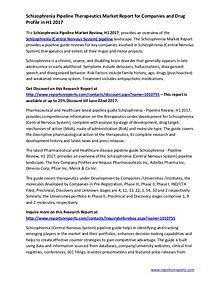 Schizophrenia Pipeline Therapeutics Market Report in H1 2017
