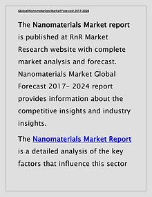 Nanomaterials Market Global Forecast & Industry Trends 2017 Report