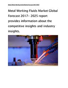 Metal Working Fluids Global Market to Reach $8.30 Billion by 2025