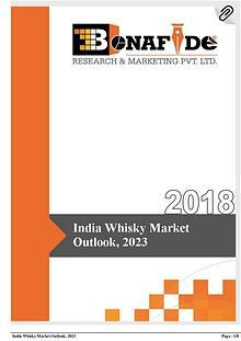 India Whisky Market Outlook, 2023