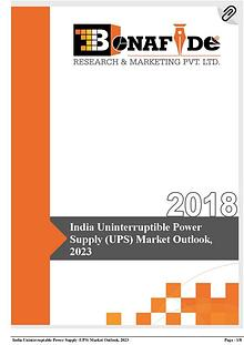 India Uninterruptible Power Supply (UPS) Market Outlook, 2023