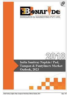 'India Sanitary napkin / pad, Tampon & Pantyliners Market Outlook, 20
