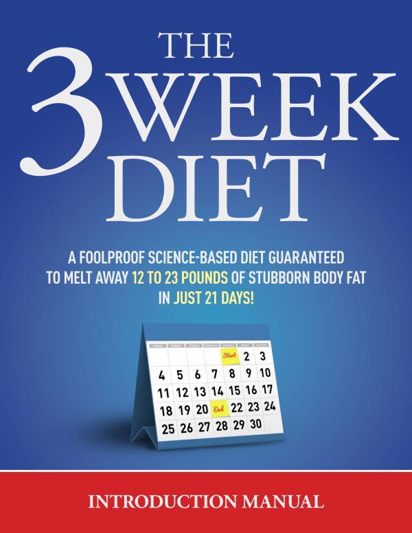 The 3 Week Diet PDF / System Free Download By Brian Flatt ...