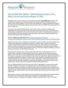 General hole saw Market Estimated to Flourish by 2017 - 2022