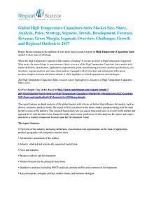 High temperature capacitors