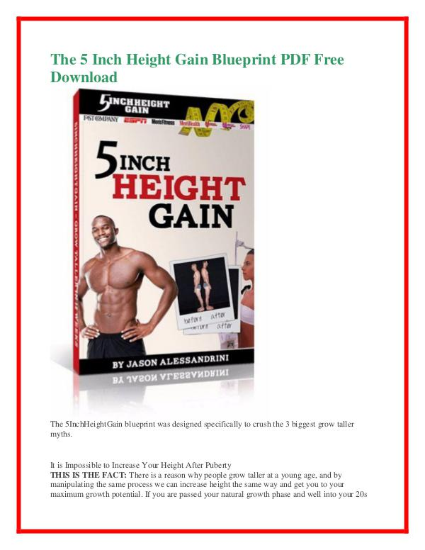 Jason alessandrinithe 5 inch height gain blueprint pdf free other issues of jason alessandrinithe 5 inch height gain blueprint pdf free download malvernweather Images