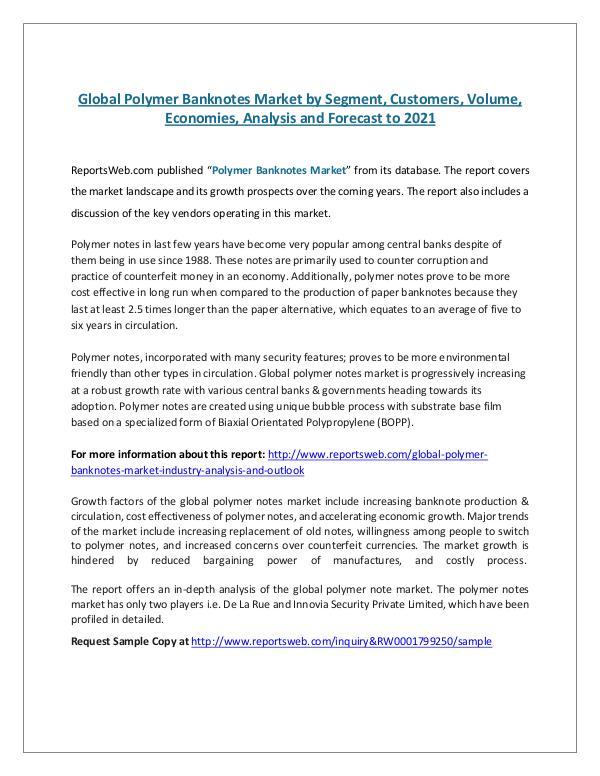 global banknote market report essay