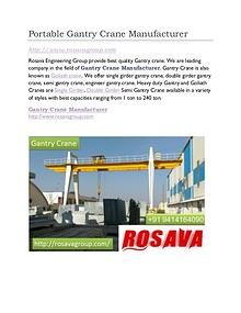 Gantry Crane Supplier